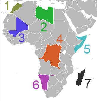 Quel est le pays N° 6 sur cette carte ?