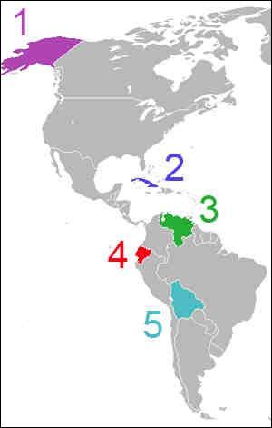 Quel est le pays N° 2 sur cette carte ?