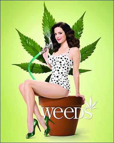 Dans Weeds, comment la mère de famille Nancy fait-elle pour survivre financièrement ?