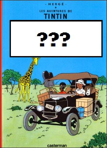 Tintin part en safari