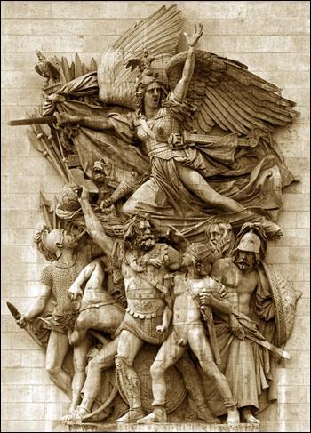 Sur quel monument parisien a été sculptée 'la Marseillaise' de Rude ?