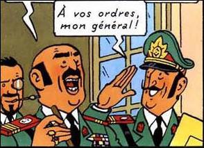 Ce haut gradé apparaît dans le dernier album de Tintin, il s'agit de ... .
