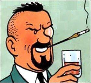 Un verre à la main il boit à la santé de la police de Bordurie, il s'agit de ... .
