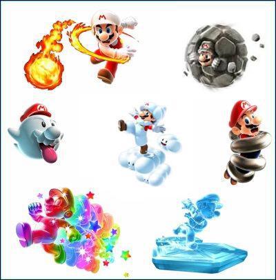 Quelles transformations retrouvent-on dans les deux Mario Galaxy ?