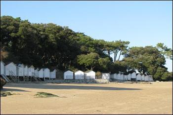 Où se trouvent ces typiques cabanes de plage ?