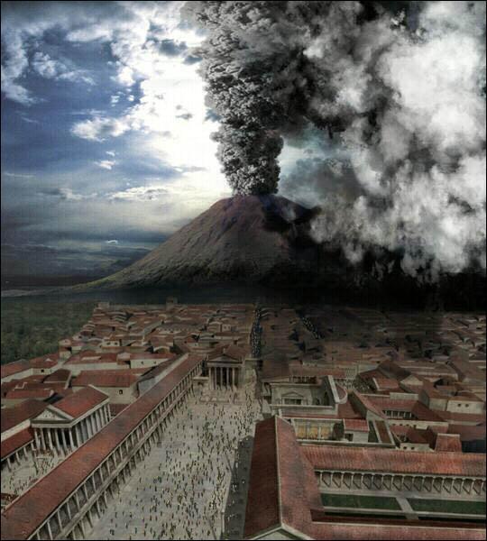 En l'an 79, l'éruption de quel volcan a détruit les villes de Herculanum, Stabies, Oplontis et Pompéi ?