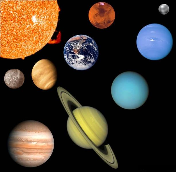 Dans l'ordre croissant des distances au Soleil, quelle planète du Système solaire est en troisième position ?