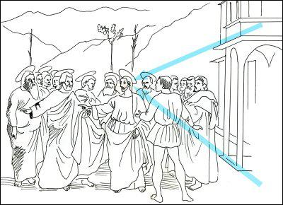 Comment s'appelle le point vers lequel convergent les lignes bleues de ce tableau ?