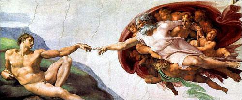 Michel-Ange, un autre génie de la Renaissance, a peint la voûte et le mur de l'autel de la chapelle Sixtine à Rome.