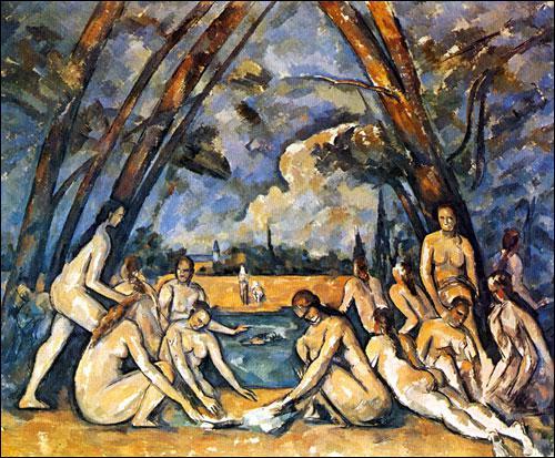 Qui a peint ce tableau intitulé 'Les grandes baigneuses' en 1905 ?