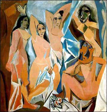 Ce tableau intitulé 'Les demoiselles d'Avignon' est considéré comme l'un des plus importants du XX° siècle. Retrouvez son auteur et le mouvement auquel il appartient.