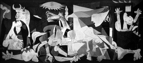 Ce tableau engagé de Pablo Picasso a été réalisé suite au bombardement d'un village espagnol par l'aviation allemande en 1937. Connaissez-vous son nom ?