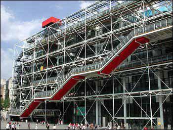 Connaissez-vous le nom de ce grand musée d'art moderne, conçu par les architectes Renzo Piano et Richard Rogers, et la ville ou il se situe ?