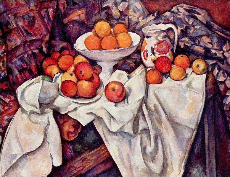 Impressionniste à ses débuts, Paul Cézanne s'intéressera bientôt à la simplification géométrique des formes de la nature. Son influence sera importante sur l'un des plus grands peintres du XX°si&a