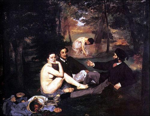Cette oeuvre d'Edouard Manet fit scandale en 1862. Elle marque aussi le début de l'art moderne et une certaine liberté des artistes à choisir leurs sujets. Retrouvez son titre :