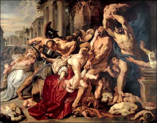 A l'inverse, dans cette peinture de Rubens, on peut observer une composition plus imaginative et dynamique, faites de courbes et de mouvements, typiques de...