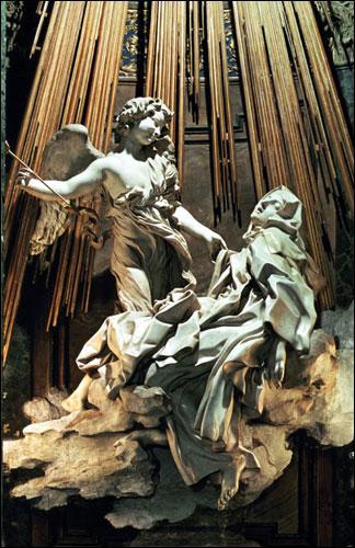 En observant cette sculpture baroque de Le Bernin située dans une église romaine, retrouvez son titre.