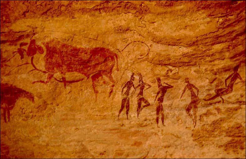 Trouvez l'intrus qu'on ne trouve jamais représenté dans les peintures rupestres :