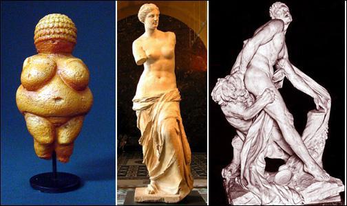 Parmi ces 3 statues, laquelle est la plus ancienne et date de la préhistoire ?
