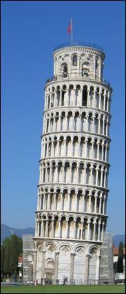 Quel est ce monument italien qui est l'un des symboles de l'Italie pour sa construction particulière ?