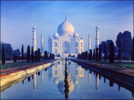 Quel est ce monument indien, Nouvelle Merveille du Monde, construit en l'honneur de la femme de l'architecte ?