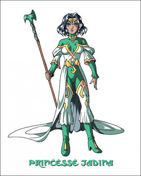 Comment s'appelle l'élément qui constitue le bâton aigle de Jadina ?