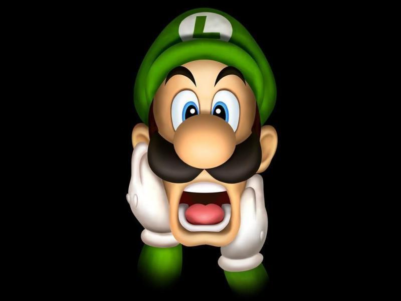 Quelle est la couleur de la lettre de la casquette du frère de Luigi ?