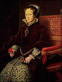 Laquelle des propositions suivantes concernant Marie 1ère, reine de 1553 à 1558 est fausse ?