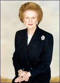Quel événement s'est produit quand Margaret Thatcher était Premier ministre ?