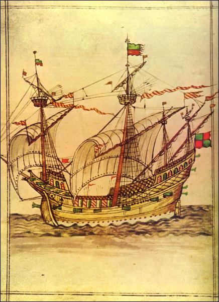 Quel nouveau type de navire, à trois mâts et plus résistant , permet les Grandes découvertes à la Renaissance ?