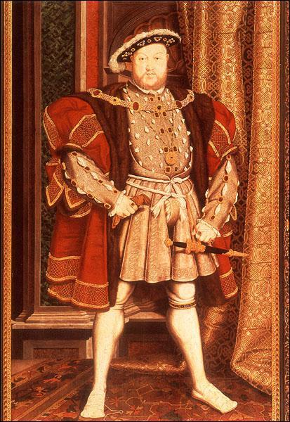Ce roi d'Angleterre a rompu avec le pape parce qu'il voulait divorcer. Il a fondé l'Eglise anglicane. Il s'agit de... ?