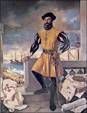 Quel Portugais fait le 1er tour du monde vers 1520 pour le compte de l'Espagne ?