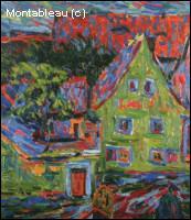 Qui a peint 'La maison verte' ?