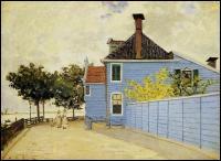 Qui a peint 'La maison bleue, Zaandam' ?