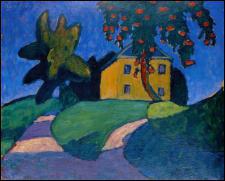 Qui a peint 'Maison jaune avec pommier' ?