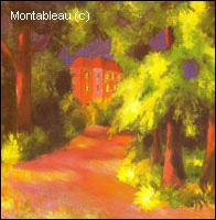 Qui a peint 'Maison rouge dans un parc' ?
