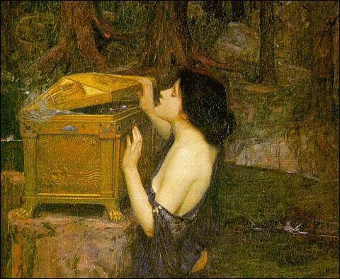 Pandore, ouvrant la boîte, relâcha tous les maux invisibles qu'elle renfermait. Parmi ces propositions, quel mal n'existait pas ?