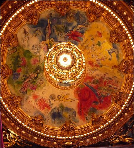 Quel plafond parisien a décoré Chagall ?