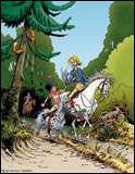 Dans quelle B. D. voit-on ces personnages amoureux des chevaux ?