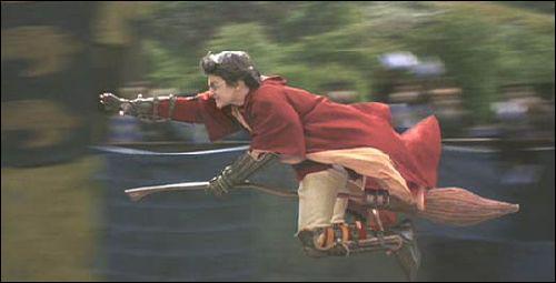 Au Quidditch, il y a trois poursuiveurs, deux batteurs, un gardien et un ...