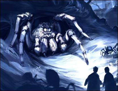 Comment s'appelle l'araignée que le garde-chasse de Poudlard conseille d'aller voir ?