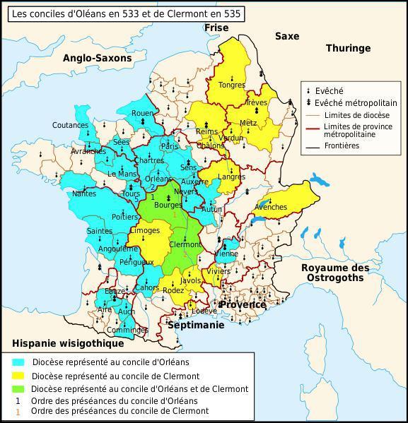 Ce premier concile de Clermont, s'est déroulé à partir du 8 novembre... .