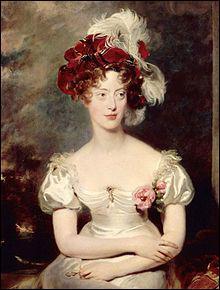 La duchesse du Berry, Caroline de Bourbon-Sicile, fut arrêtée par les gendarmes ce 8 novembre, pour avoir voulu s'emparer du trône de France pour son fils...