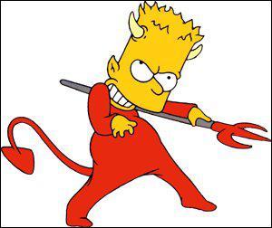 Qu'est-ce qui a rendu Bart diabolique dans le ventre de Marge ?