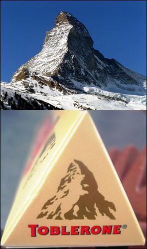 Le logo de Toblerone représente la montagne 'le Cervin', mais on peut voir autre chose dans ce logo...
