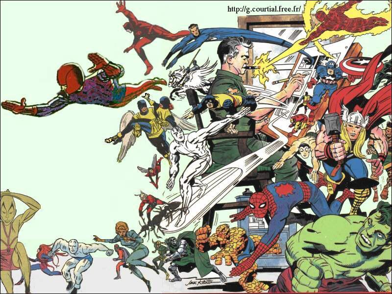 Le héros a été dessiné par le créateur de Hulk, des X-Men et des 4 Fantastiques. Quel est le nom de celui que beaucoup appellent le 'King of Comics' ?