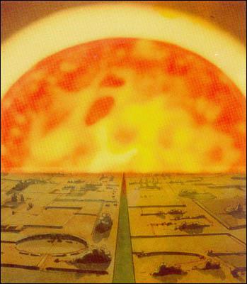Comment se nomme le mystérieux soleil, situé au centre de la Terre, autour duquel se sont blottis les Arkadiens depuis le Grand Cataclysme ?