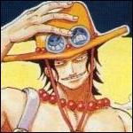 Que voit-on sur la boucle de ceinture d'Ace ?