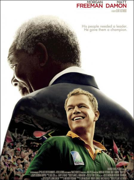 Ce film parle de l'apartheid en Afrique du Sud à travers le monde du rugby. Il réunit Morgan Freeman et Matt Damon et s'appelle... ?