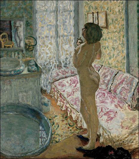 Qui a peint 'Le cabinet de toilette au canapé rose' ?